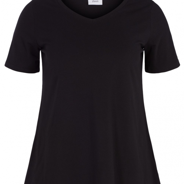 Basis T-Shirt Zizzi Zwart