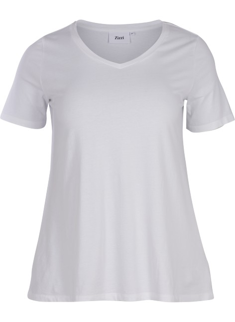Basic T-Shirt Wit Zizzi