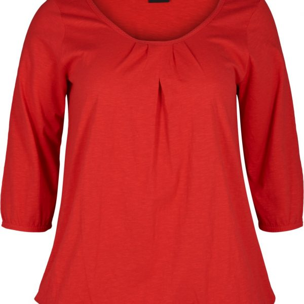 Vloa 3/4 blouse red zizzi